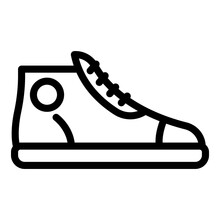 Adidas Sneaker Icon. Outline A...