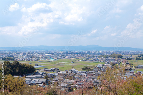 Obraz 甘樫丘展望台から見る橿原市 - fototapety do salonu