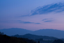 甘樫丘展望台から見る...
