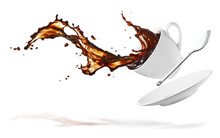 Cup Of Spilling Coffee Creatin...