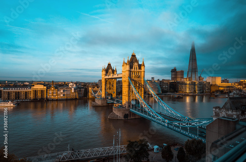 Obraz Tower Bridge in London, UK - fototapety do salonu