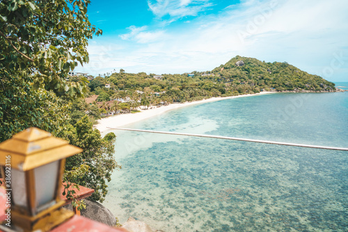 Платно Panoramic view of beautiful sea and blue sky from high view point