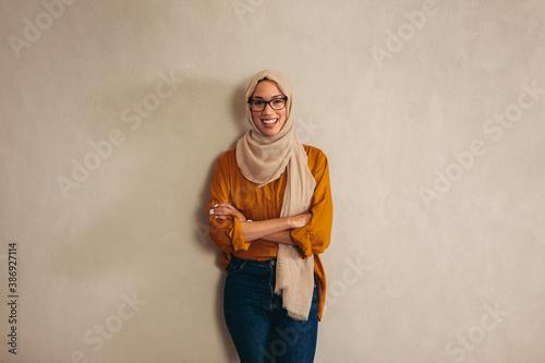 Fotografia Portriat of a muslim business woman