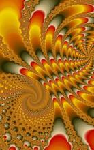 Fractal Burst Arrangement. Fractal Pattern Bright Autumn Concept. Confrontation Concept, Spirals, Hypnosis