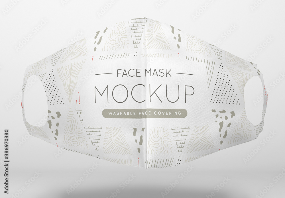 Fototapeta Floating Washable Face Mask Mockup