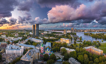 Riga City Panorama With Color...