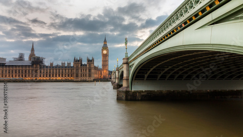 Fototapety, obrazy: The Big Ben in London and the House of Parliament