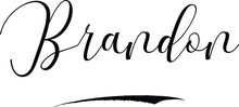 Brandon -Male Name Cursive Cal...