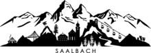 SAALBACH Hinterglemm WINTER Mountain Skyline Silhouette