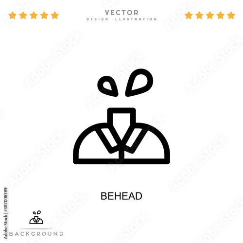 Obraz na plátně Behead icon
