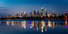 Melbourne Skyline At Night Ove...