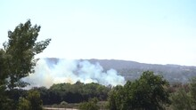 Smoke Plume From A Large Scale Brush Fire