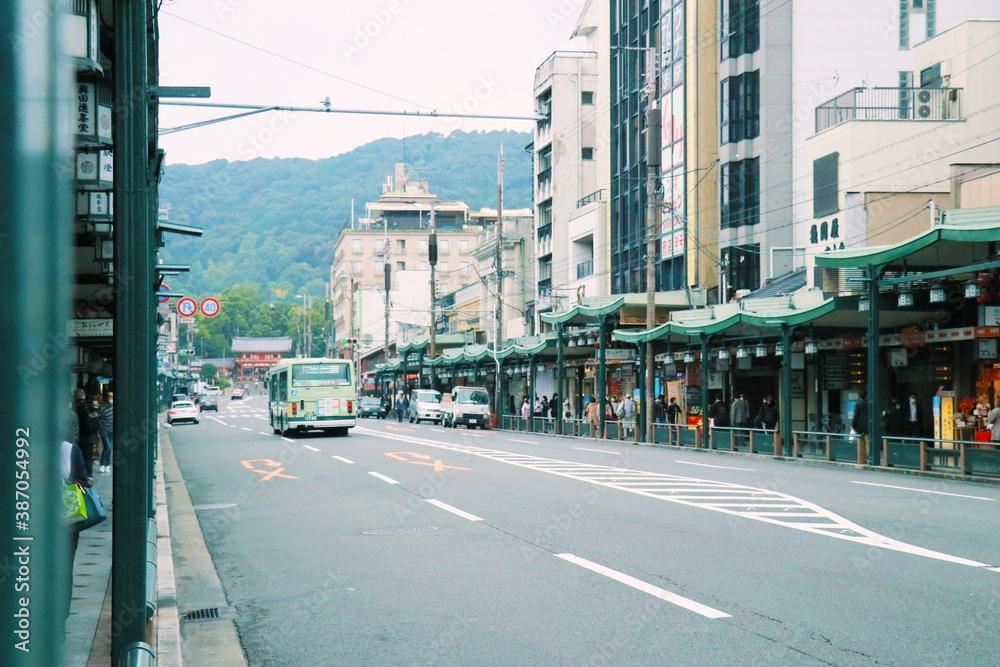 Fototapeta 京都の街並み