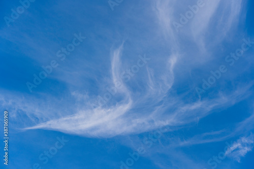 Fototapety, obrazy: White fluffy clouds in the blue sky