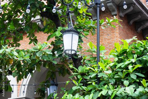 Vintage street lamp exterior area