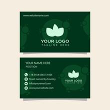 Green Business  Card Modern Ready To Print Premium Template