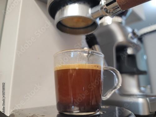 Valokuva espresso bottomless coffee