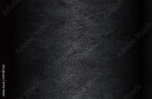 Obraz Luxury black metal gradient background with distressed metal plate texture. - fototapety do salonu