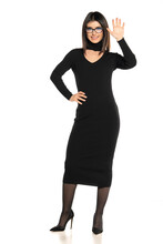 Business Woman In Black Dress ...