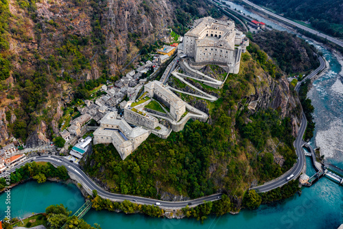 фотография Forte di Bard Aosta Italy Avengers Age of Ultron Castle