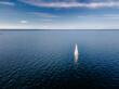 sailboat in the calm sea