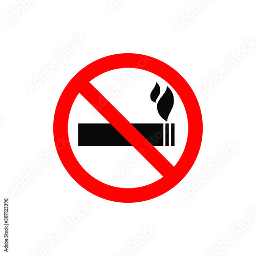 No smoking sign on white background. Eps10 vector illustration Canvas Print