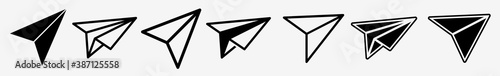 Paper Plane Icon Set | Paper Plane Vector Illustration Logo | Paper Plane Icons Isolated Collection