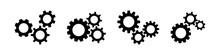 Gear Wheel Black Vector Icon. ...