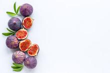 Tasty Fresh Figs Cut In Half W...