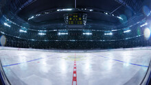 Hockey Arena Fisheye Leans Pho...
