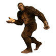 canvas print picture - 3D Rendering Sasquatch on White