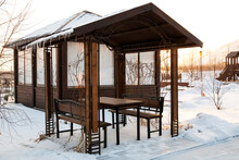 Wooden Pavilions In The Park I...