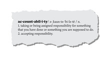 Accountability Definition On A Torn Piece Of Paper