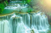 Beautiful Huai Mae Khamin Waterfall