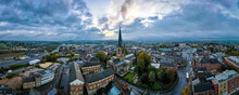 The Crooked Spire Of The Church Of St Mary And All Saints In Chesterfield