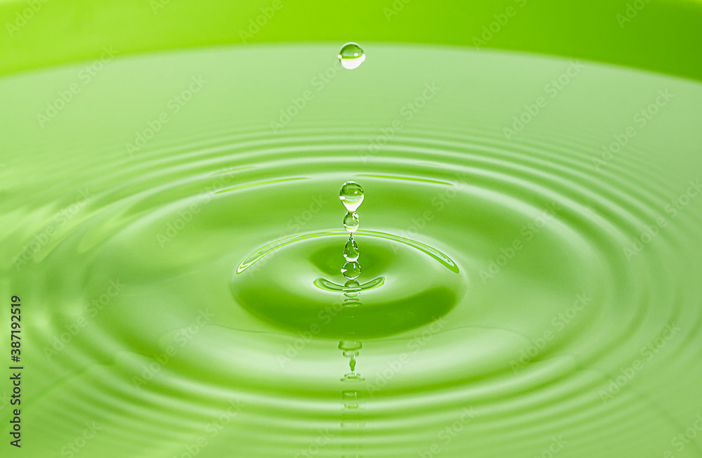 Fototapeta Water drop in freeze motion, macro shot.