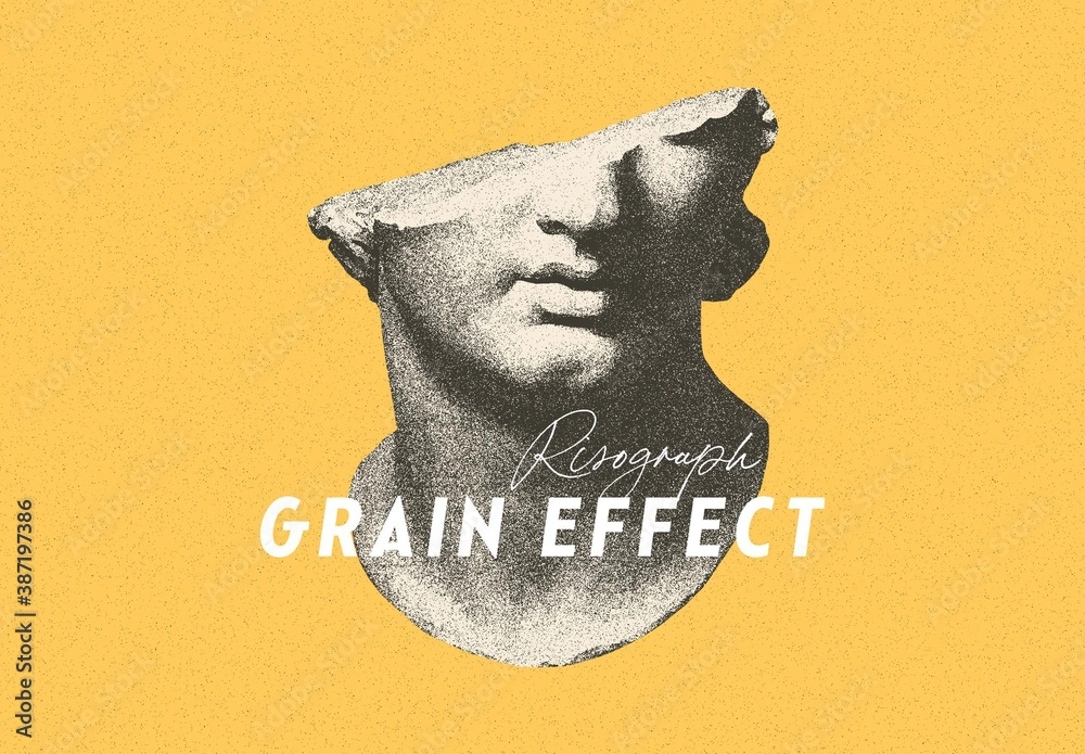 Fototapeta Risograph Grain Photo Effect Mockup