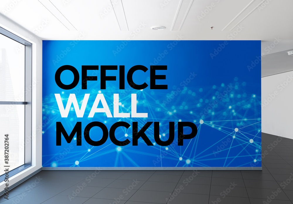 Fototapeta Office Wall Mural Mockup