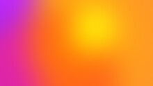 Bright Colours Gradient Background With Smooth Big Rounded Yellow Orange Accent Shape