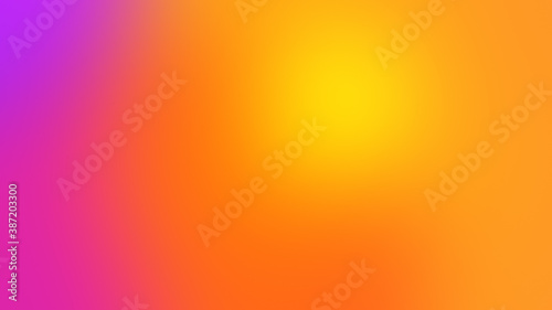 Fotografie, Tablou Bright colours gradient background with smooth big rounded yellow orange accent