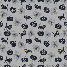 Vector Seamless Pattern For Ha...