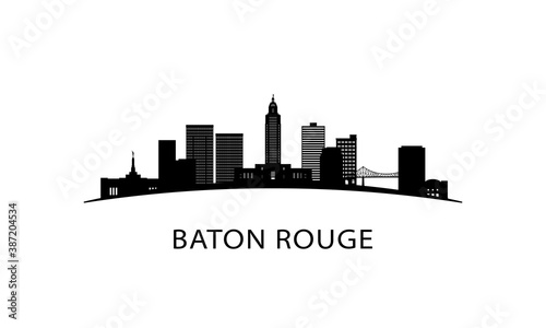 Платно Baton Rouge city Louisiana skyline