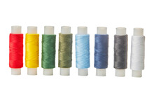 Set Of Colorful Spools Of Thre...