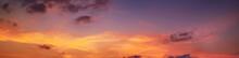 Sunrise Panorama Scenic Orange...