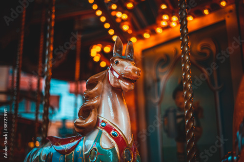 Obraz Old vintage carousel horse  - fototapety do salonu