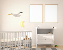 Nursery Childrens Bedroom With...