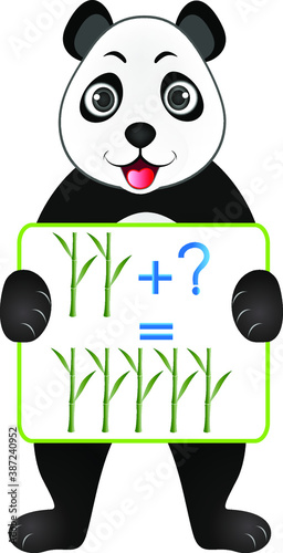 Photographie Educational games for children, illustrate mathematical preparation, with bamboos