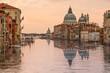 Sunrise in Venice, Pink tone Grand canal