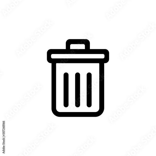 Fototapety, obrazy: Recycling bin icon isolated on white background