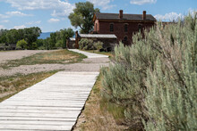 Boardwalk Path For Tourists At The Bannack Ghost Town In Montana